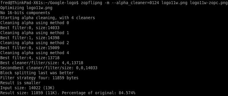 ZopfliPNG run, using -m --alpha_cleaner=0124